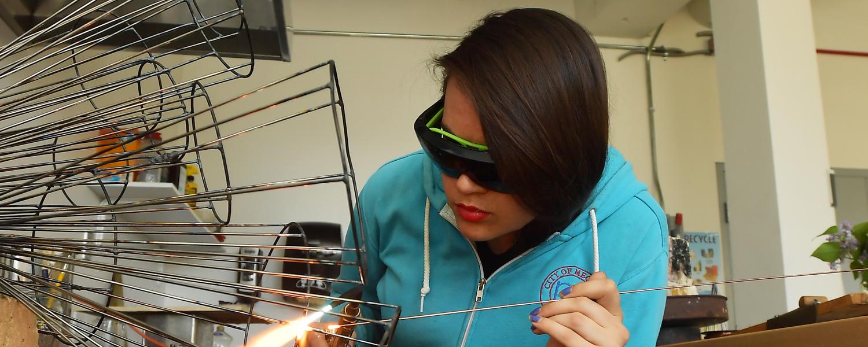 Jewelry/Metals/Enameling student welding
