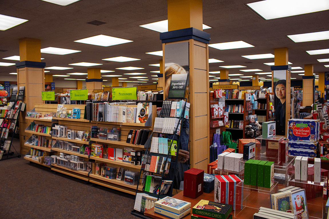 Stock up at the bookstore on the first floor for all your essentials!