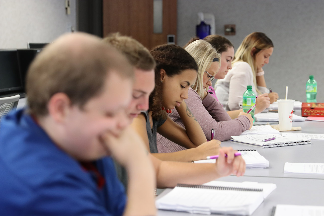 Students learning in classroom