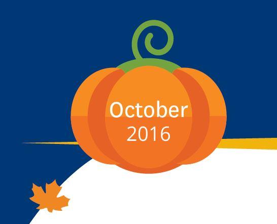 Pumpkin that says October 2016