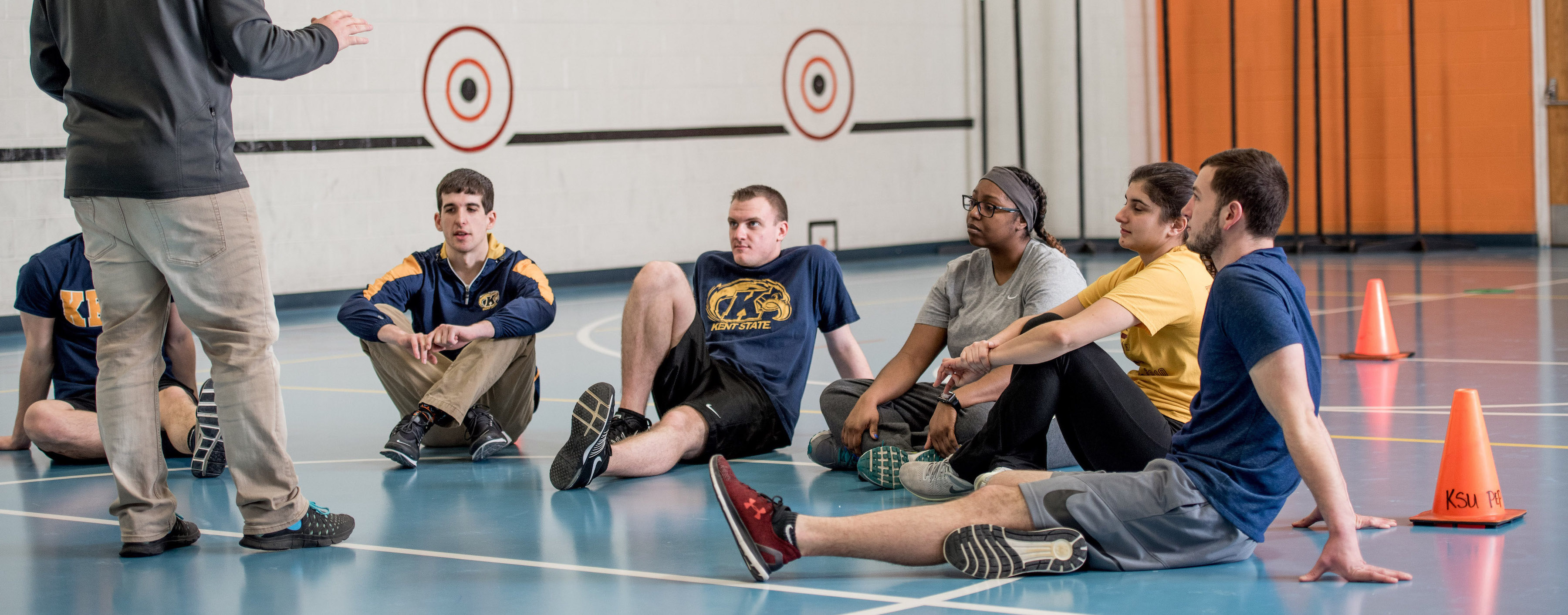 Physical Education students in class