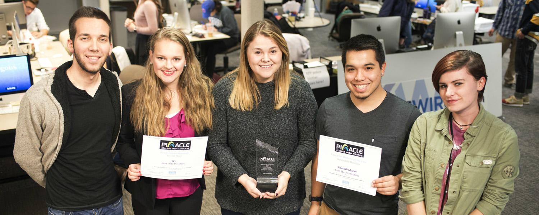 Photo of student media leaders