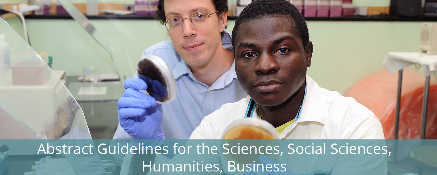 Abstract Guidelines for the Sciences, Social Sciences, Humanities, & Business
