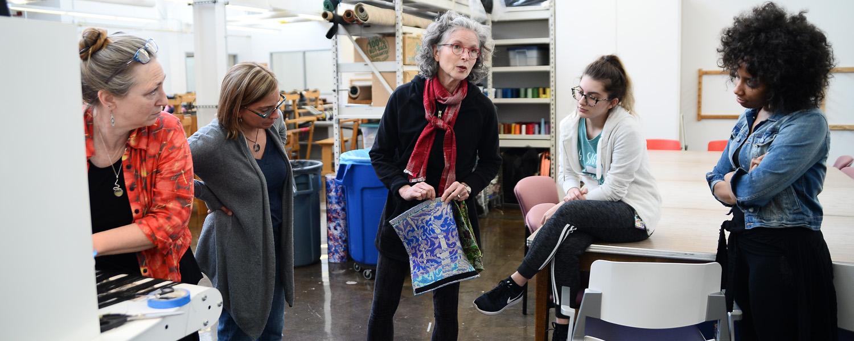 Textiles students at Kent Blossom Art workshop