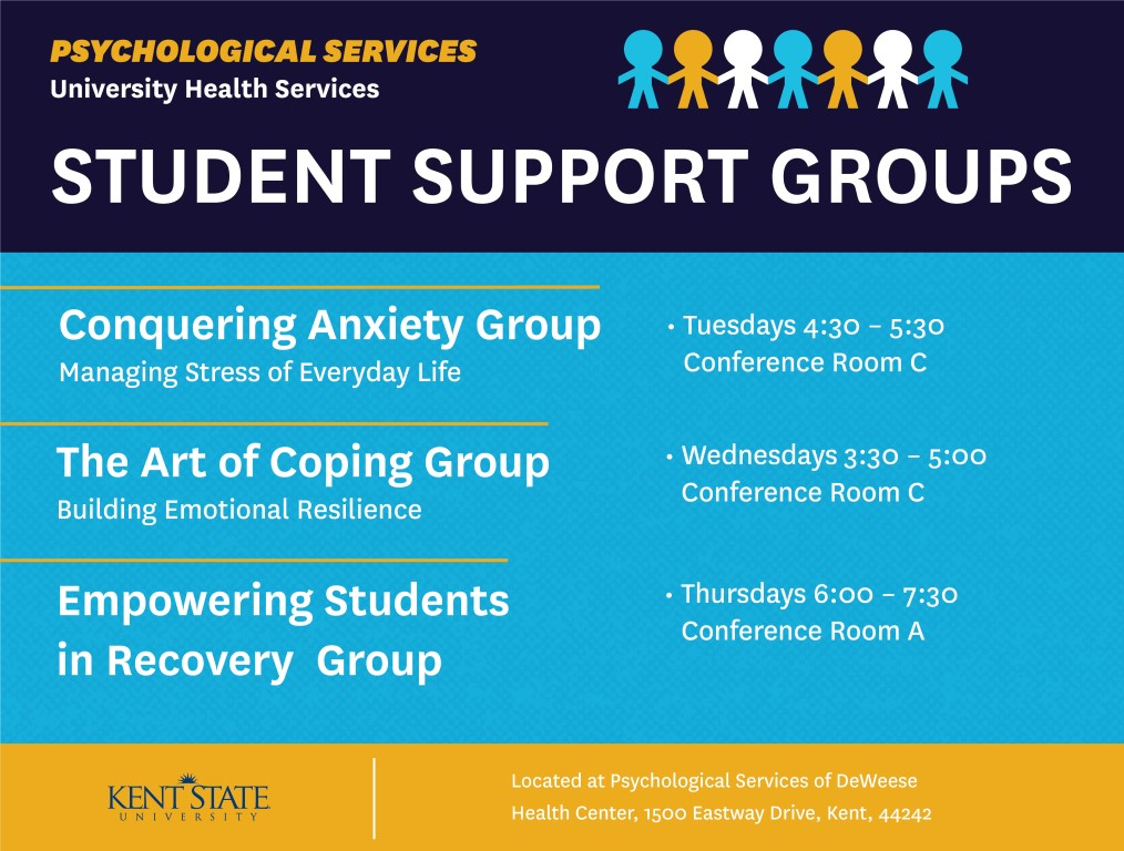UHS Spring Semester Support Group Schedule
