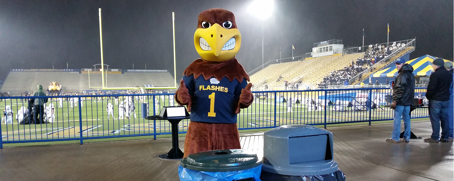 Fans recycled 50% of waste generated at Dix Stadium during Game Day Challenge in 2015!