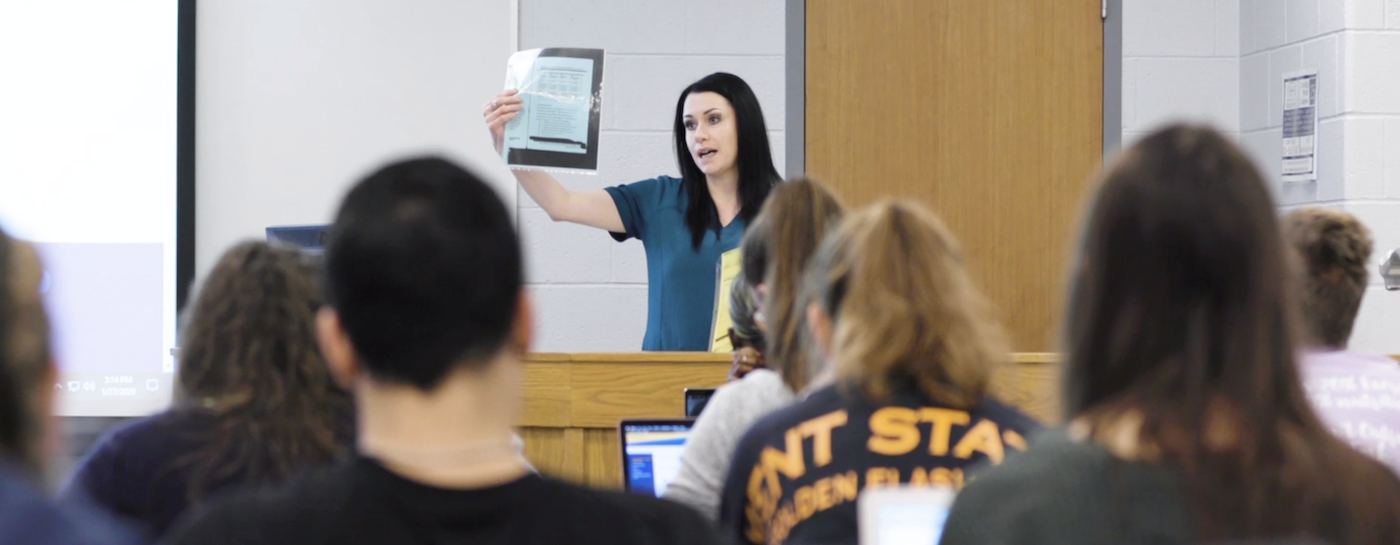 Tanya Falcone teaching