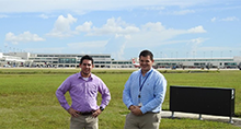 Aviation Management graduates Jeremy and Stephen at Ft. Myers, FL