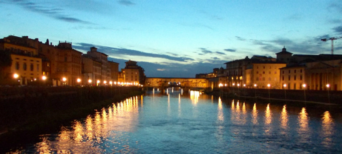 River at night in Florence