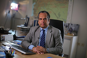 Ramesh Rajasingham, '85, M.A. '86, is a humanitarian with the Syria Crisis