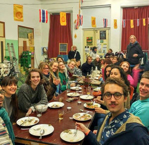 Kent State senior Erin Shattuck feasts on excess food as she studies abroad to learn about sustainable development.
