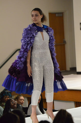 The winning garment from the Spring 2019 Fashion Visuals Fashion Show (front view)