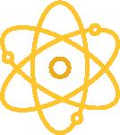 Golden atom graphic