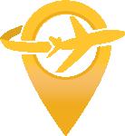A golden plane circling a golden checkpoint