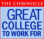 The Chronicle Great College to Work For 2017 badge