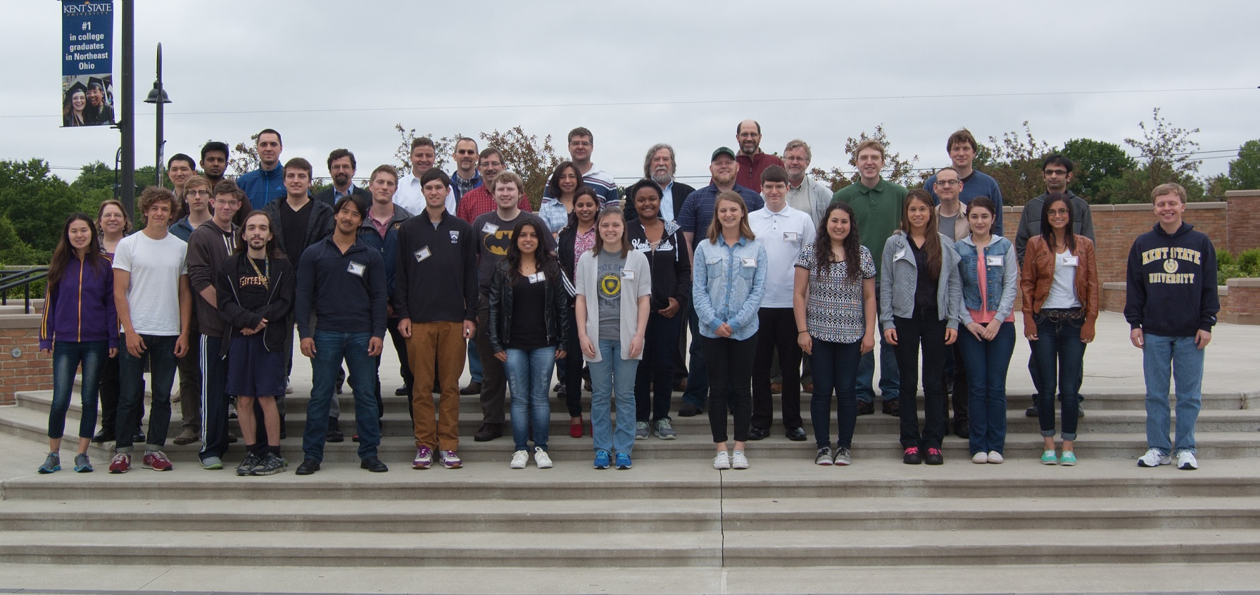 Summer 2015 REU participants with their faculty advisors