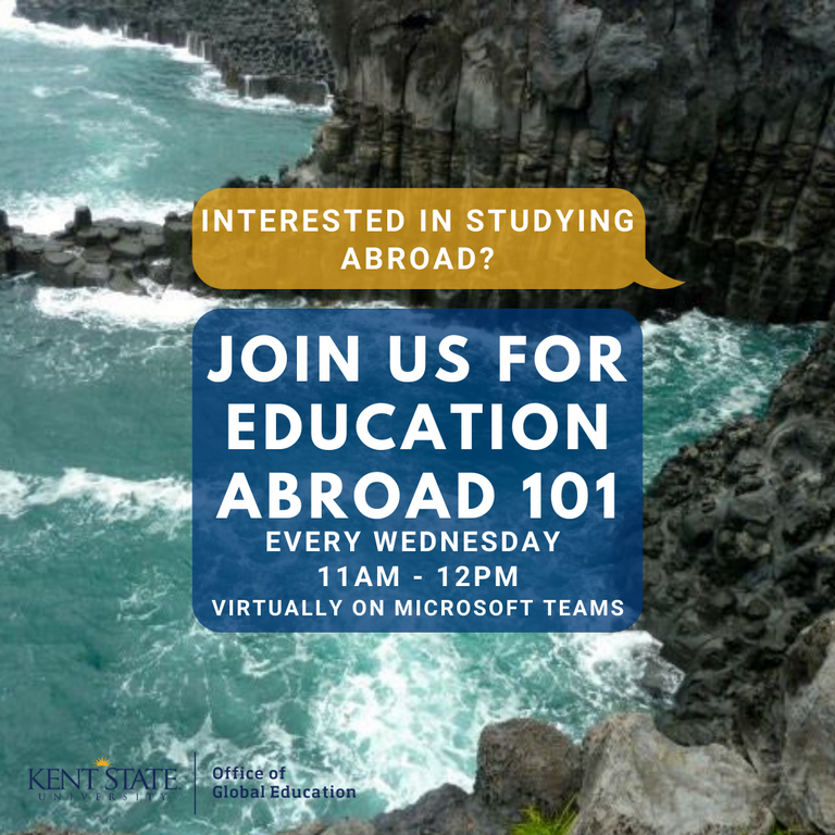 Join us for Education Abroad 101 every Wednesday