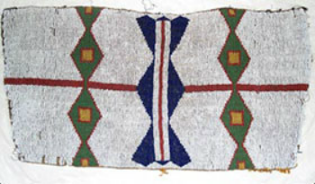 Trapezoidal beaded panel, probably from a cradleboard, Plains Indian (Lakota), ca. 1875-1900.  Kent State University Museum collections, 1983.1.892b