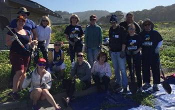 The chapter volunteered at Half Moon Bay during the 2018 Alumni Day of Service.