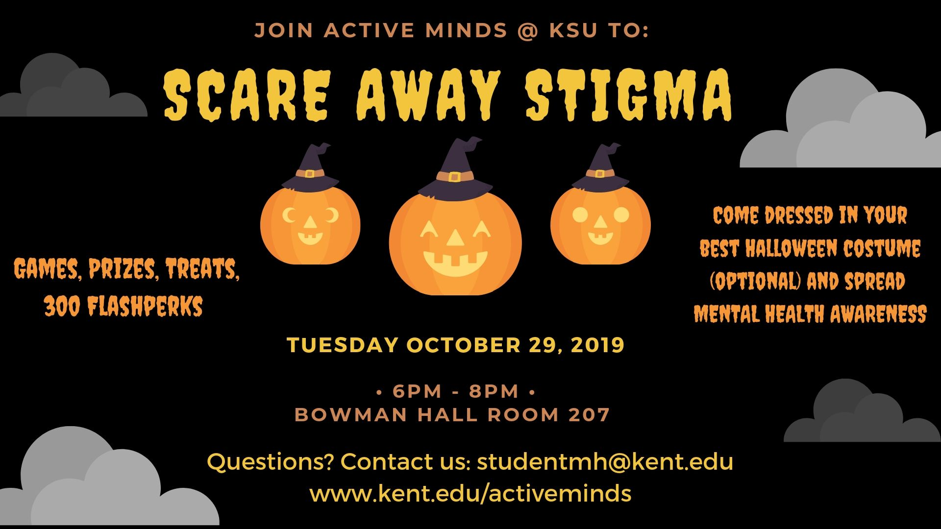 Flyer for Scare Away Stigma event