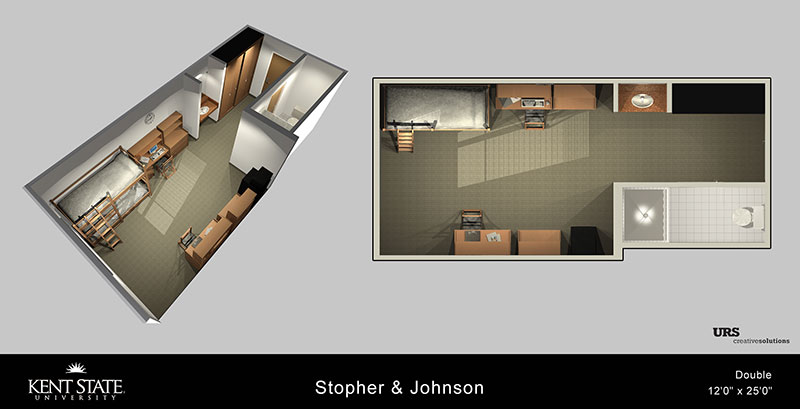 Diagram of Stopher and Johnson Double room