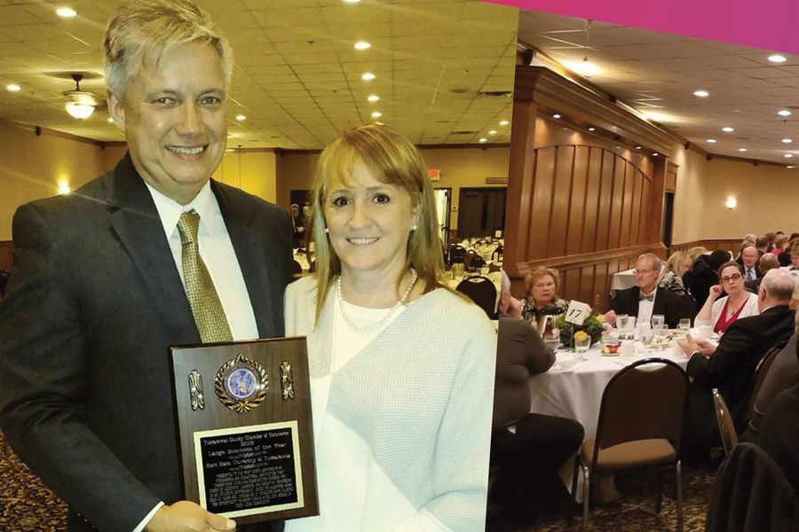 Kent State University at Tuscarawas received the Large Business of the Year Award