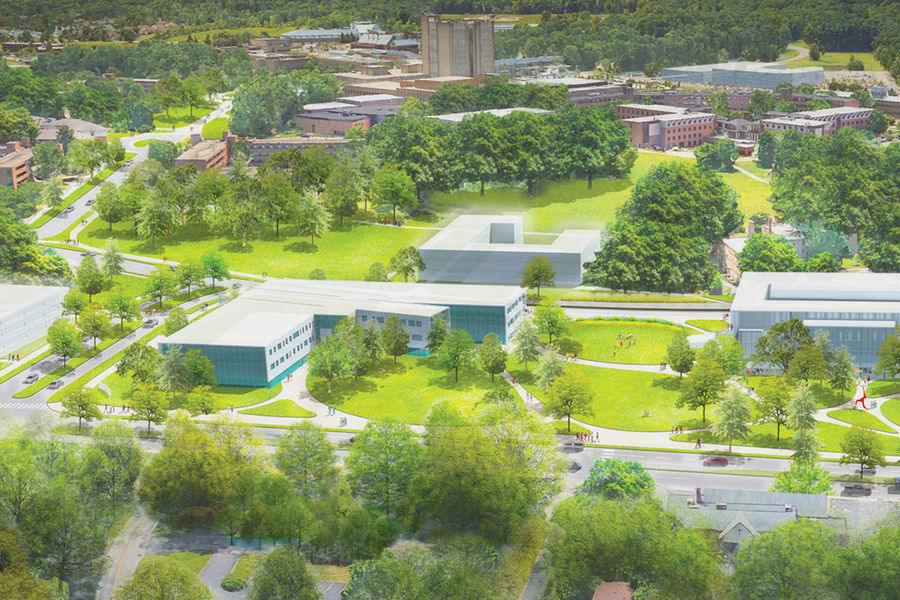 Conceptual rendering of the proposed Main Street gateway to the Kent Campus