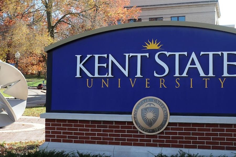 Kent State Starsphere and Sign