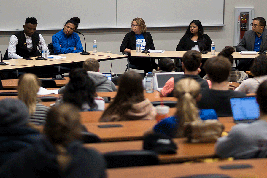 "Panelists discussed how the global refugee crisis impacts Kent State students and people around the world at ""Redefining"