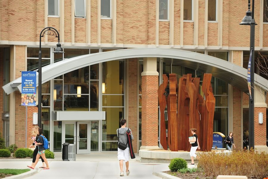 Kent State University has selected Kenneth Burhanna to serve as the new dean of University Libraries. As dean, Mr. Burhanna will oversee the Kent State University Library (pictured) and the branch libraries on the Kent Campus.