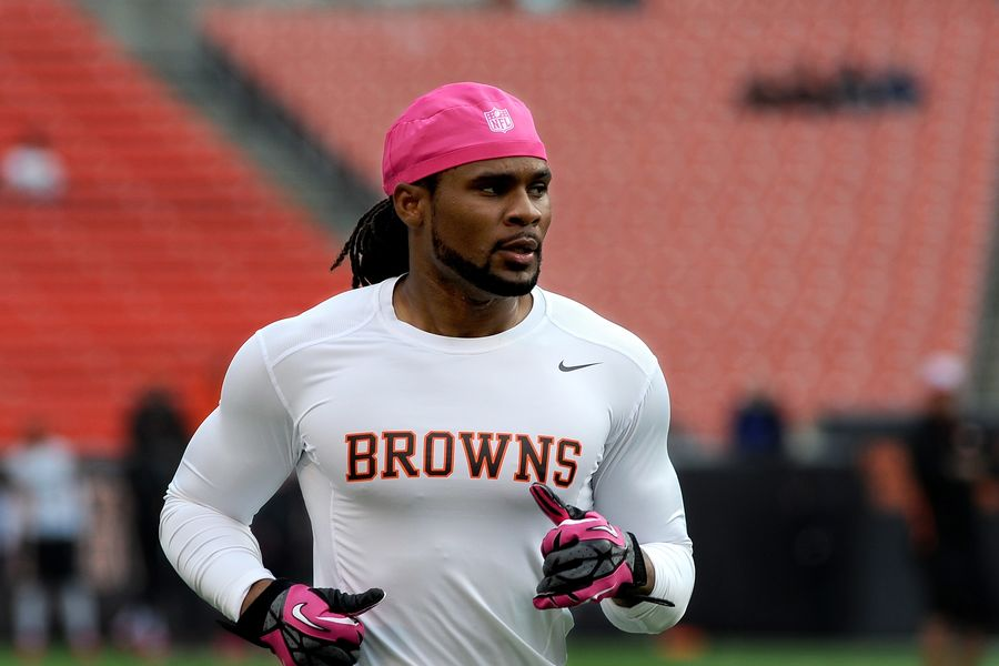 Kent State alumnus Josh Cribbs was signed as an undrafted free agent by the Cleveland Browns in 2005 where he played for eight seasons, making the Pro Bowl in 2007, 2009 and 2012. (Photo credit: Nick Cammett)