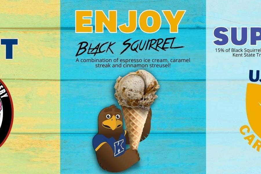 Cockeye Creamery's Black Squirrel ice cream
