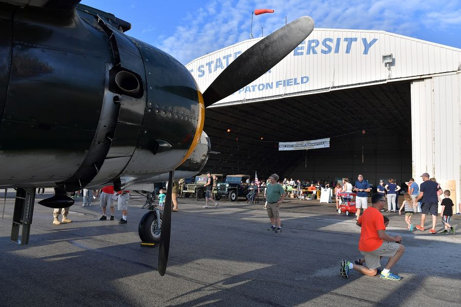 The Kent State University Aeronautics Fair, a family-friendly event on Sept. 9, will feature vintage aircraft, military vehicles, speakers and pilots, as well as airplane and hot air balloon rides.