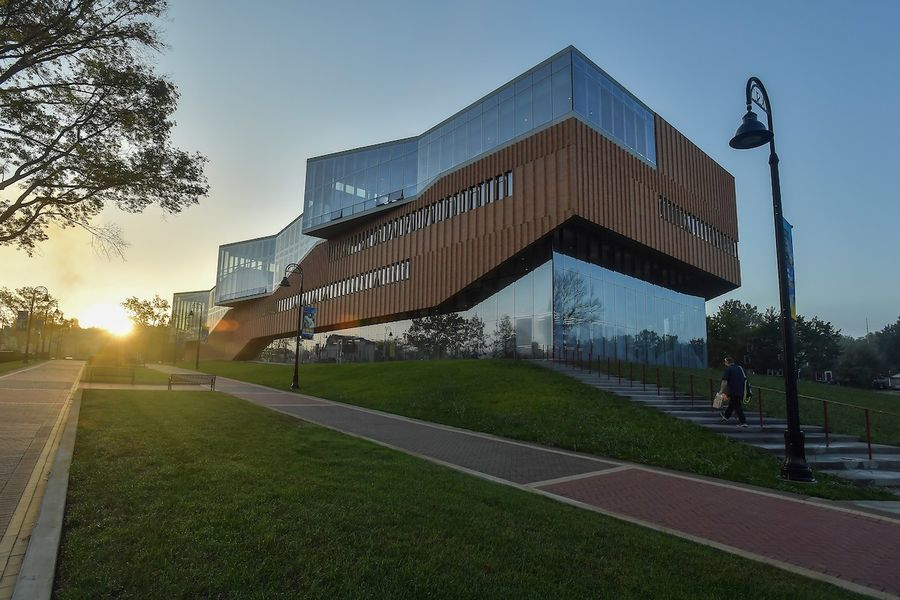 In honor of John and Fonda Elliot's generous legacy of giving, the Kent State University Board of Trustees voted on Sept. 12 to name the pictured building The John Elliot Center for Architecture and Environmental Design.