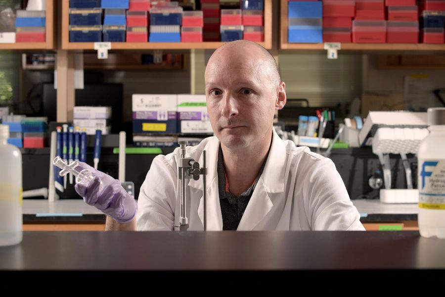 John D. Johnson, Ph.D., associate professor of biological sciences at Kent State University, received a three-year, $450,000 grant from the National Institutes of Health.
