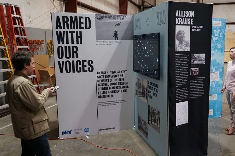 "The ""Armed With Our Voices"" exhibit provides a powerful form of cross-generational connection that engages users in the events of May 4, 1970, and the importance of peace, conflict resolution and student activism today."