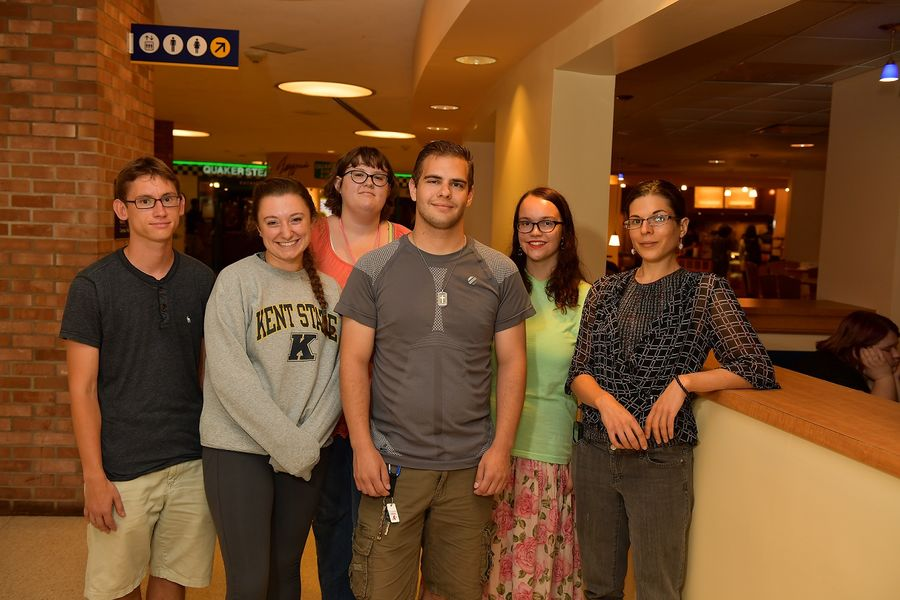 Members of Autism Connections Kent, a student organization created by Kent State University students with autism spectrum disorder and their allies, pose for a photo at the Kent Student Center during their first meeting last fall.