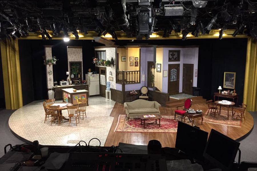 "The set of ""Family Ties"" at Human Race Theatre Company. Photo by Tamara Honesty."