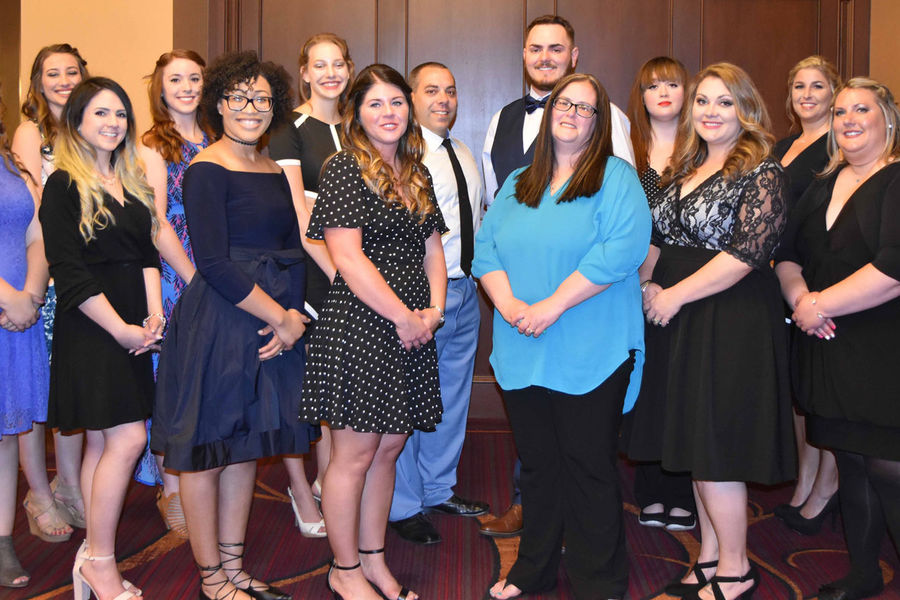 The Kent State East Liverpool ADN class of 2018 at the pinning ceremony