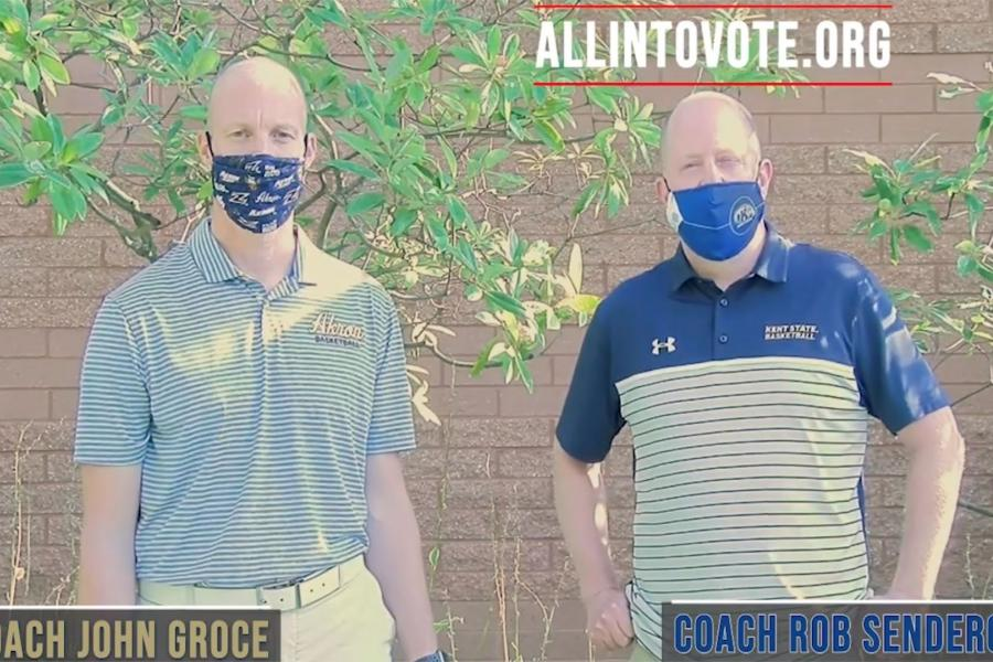 Akron head coach John Groce and Kent State head men