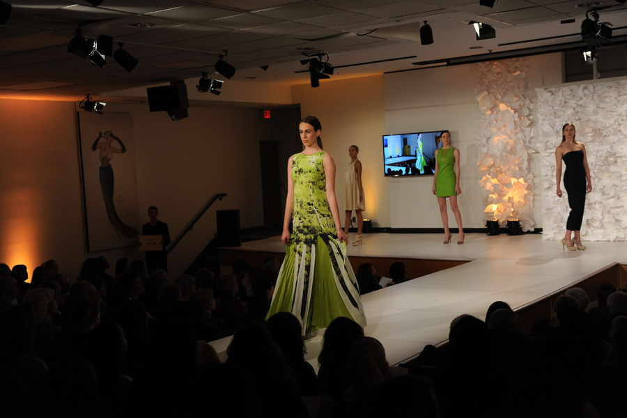 """Compleat"" (collection) by student Lisa Conrad at the 2015 Annual Fashion Show"
