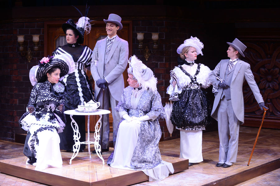 "Members of the ""My Fair Lady"" cast in S.Q. Campbell"