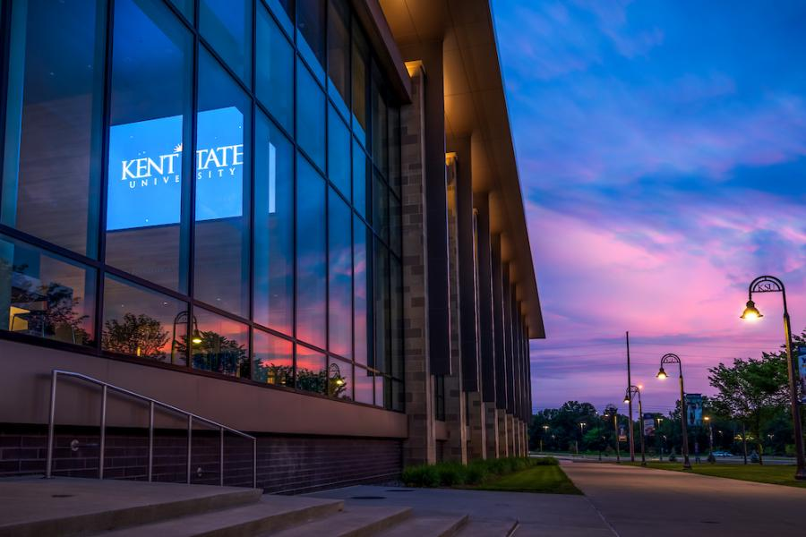 Sunset view by the Integrated Sciences Building