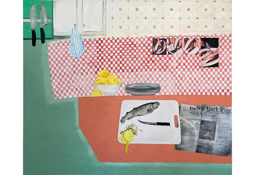Katie Bulter paintings of fish for Miami University Young Painters Competition