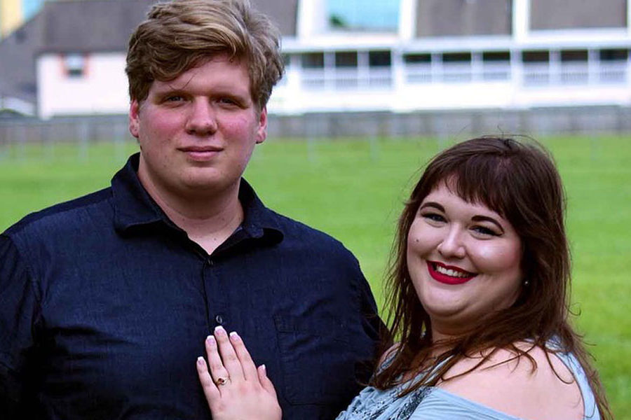 Kathryn Owens continues her studies at Kent State University after she and her fiancé Caleb Frost walked through waist-high water to escape the flood left behind from Hurricane Harvey.