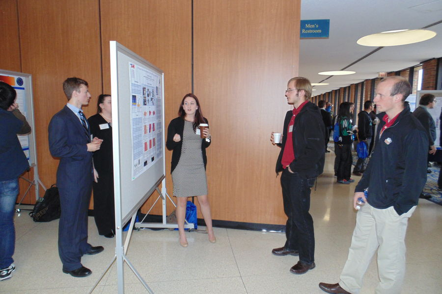 Poster session at the OSAPS Spring Meeting at Kent State University