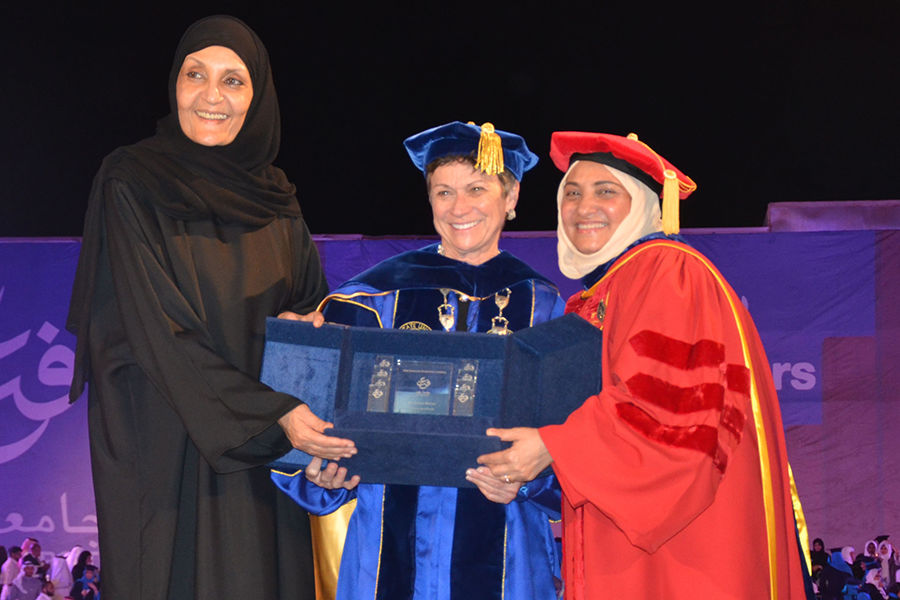 Kent State University President Beverly Warren delivers inspiring Commencement message to the Effat University Class of 2017 in Jeddah, Saudi Arabia.