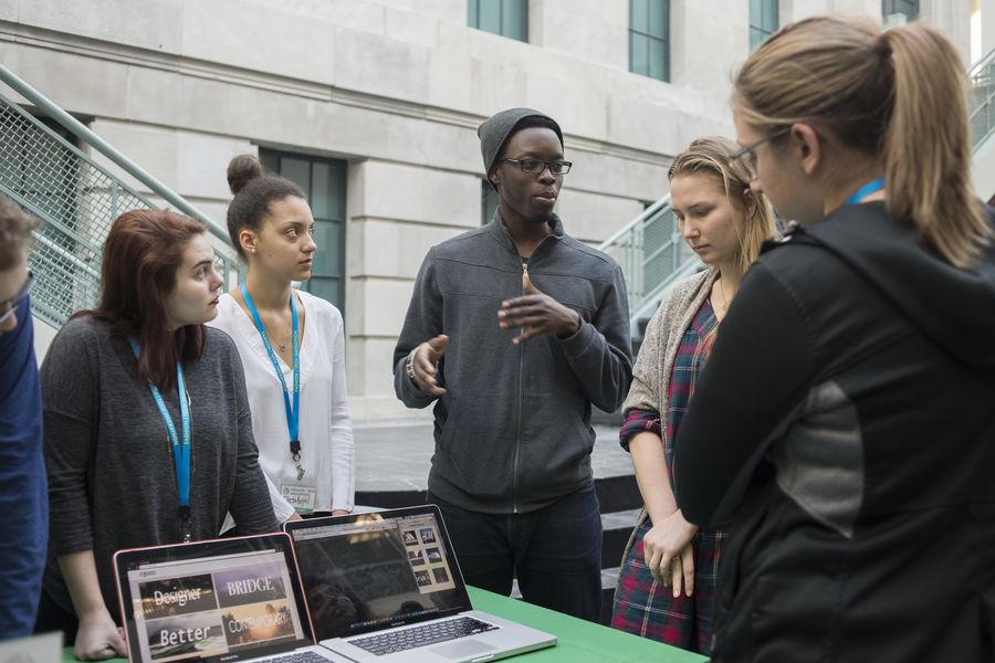 Students at the 2016 Fashion/Tech Hackathon