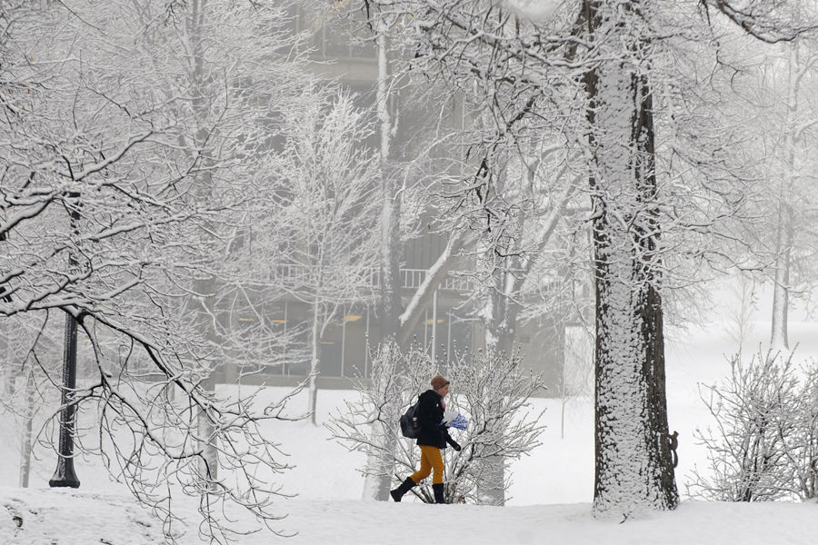 Winter Scene at Kent State