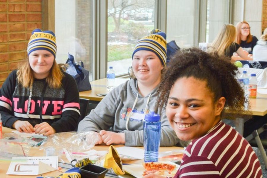 Local high schools participate in the Girls4Steam event at Kent State